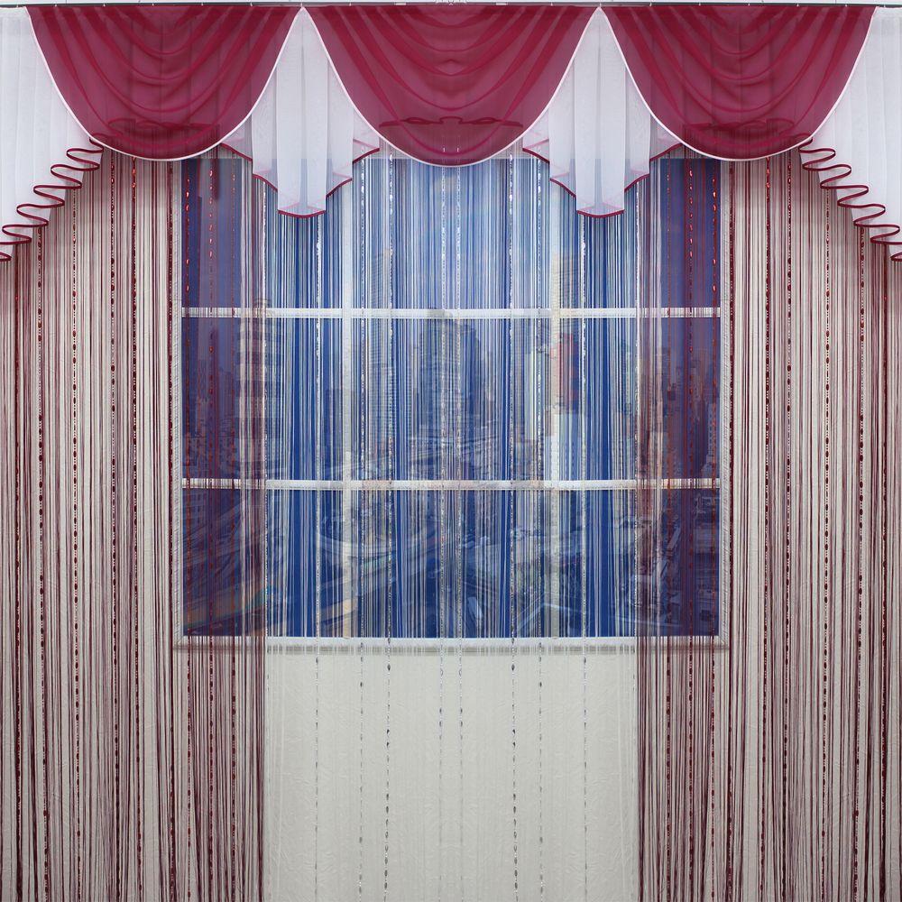 ламбрекен-маркиза-бордовый-с-нитевыми-шторами