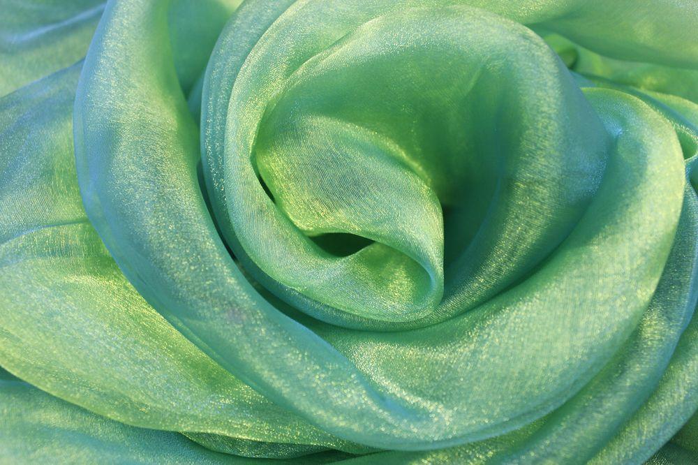 органза-зелёная