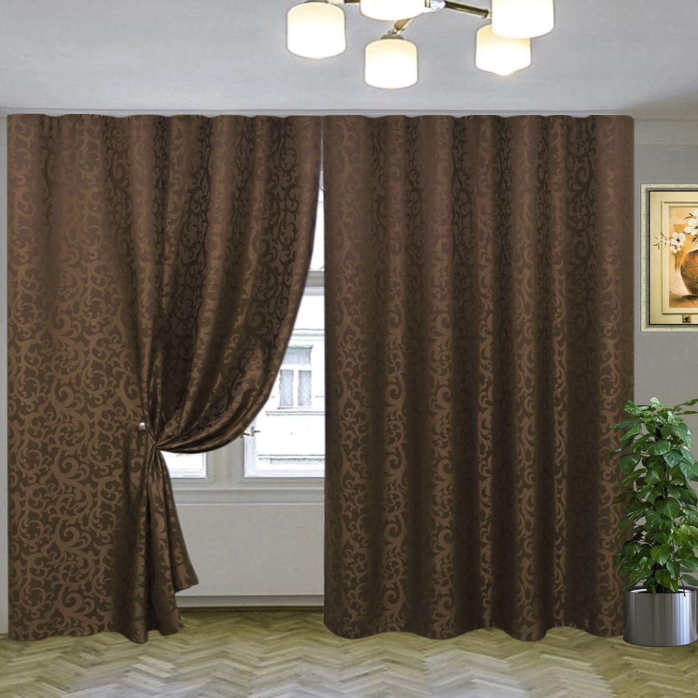 эвелина тёмно-коричневый на шторной тесьме