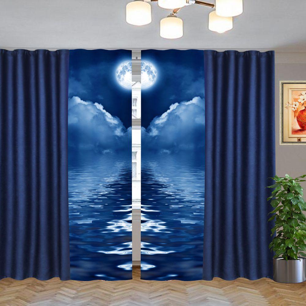 этюд синий-26 на шторной тесьме