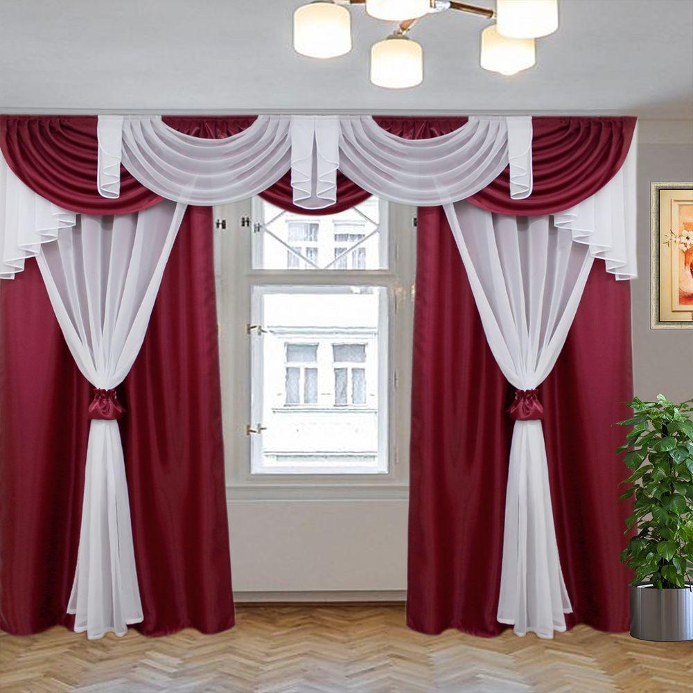 комплект штор афродита бордовый 3м
