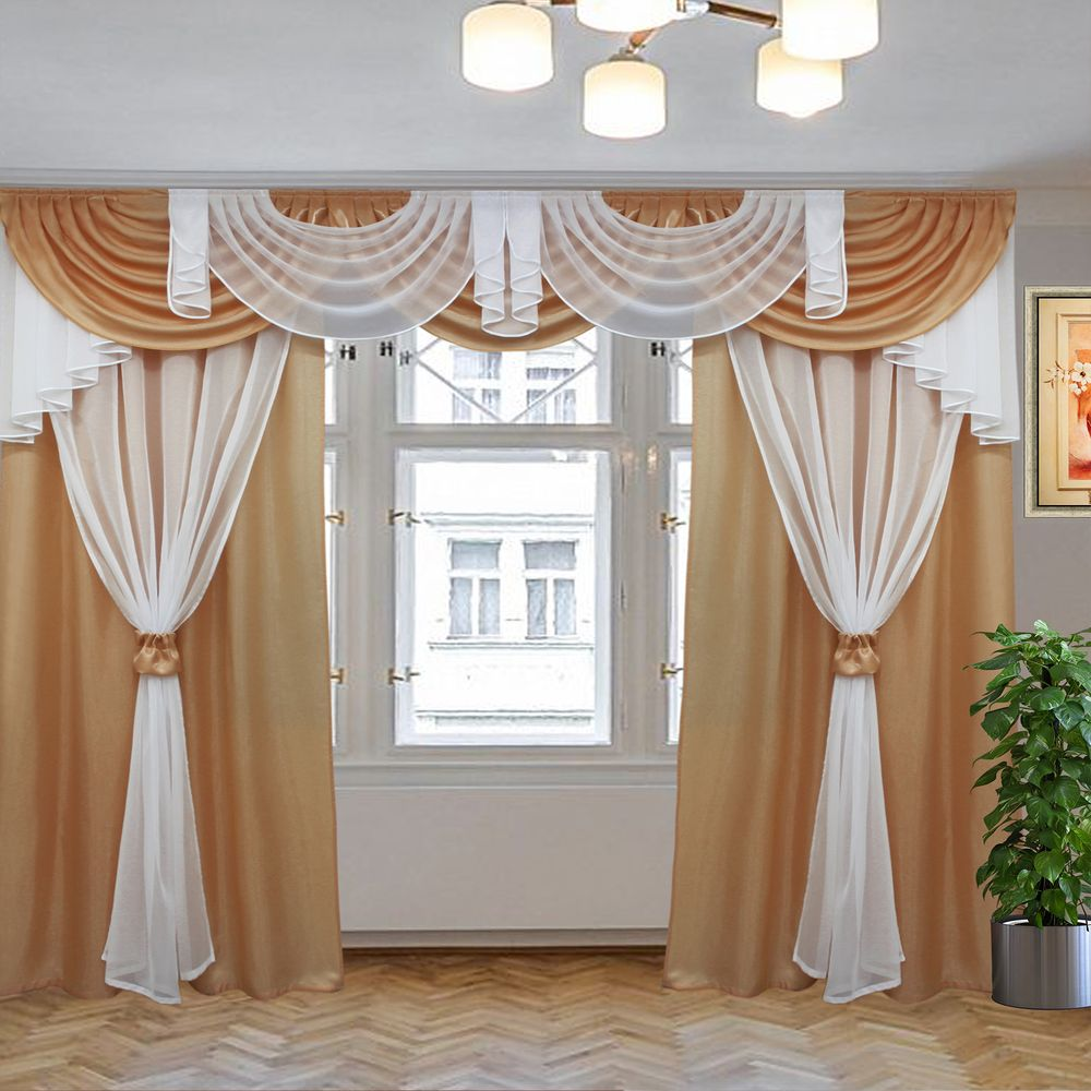 комплект штор афродита коричневый 3м