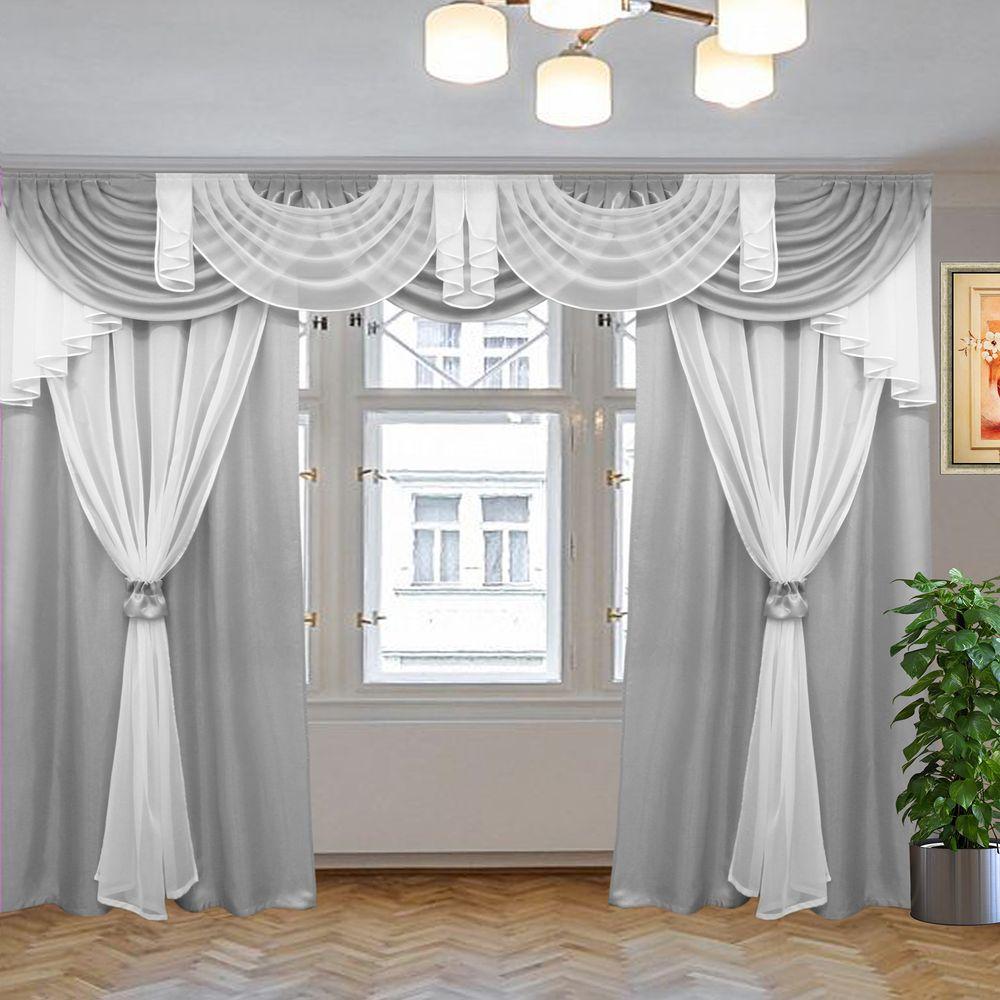комплект штор афродита серый 3м
