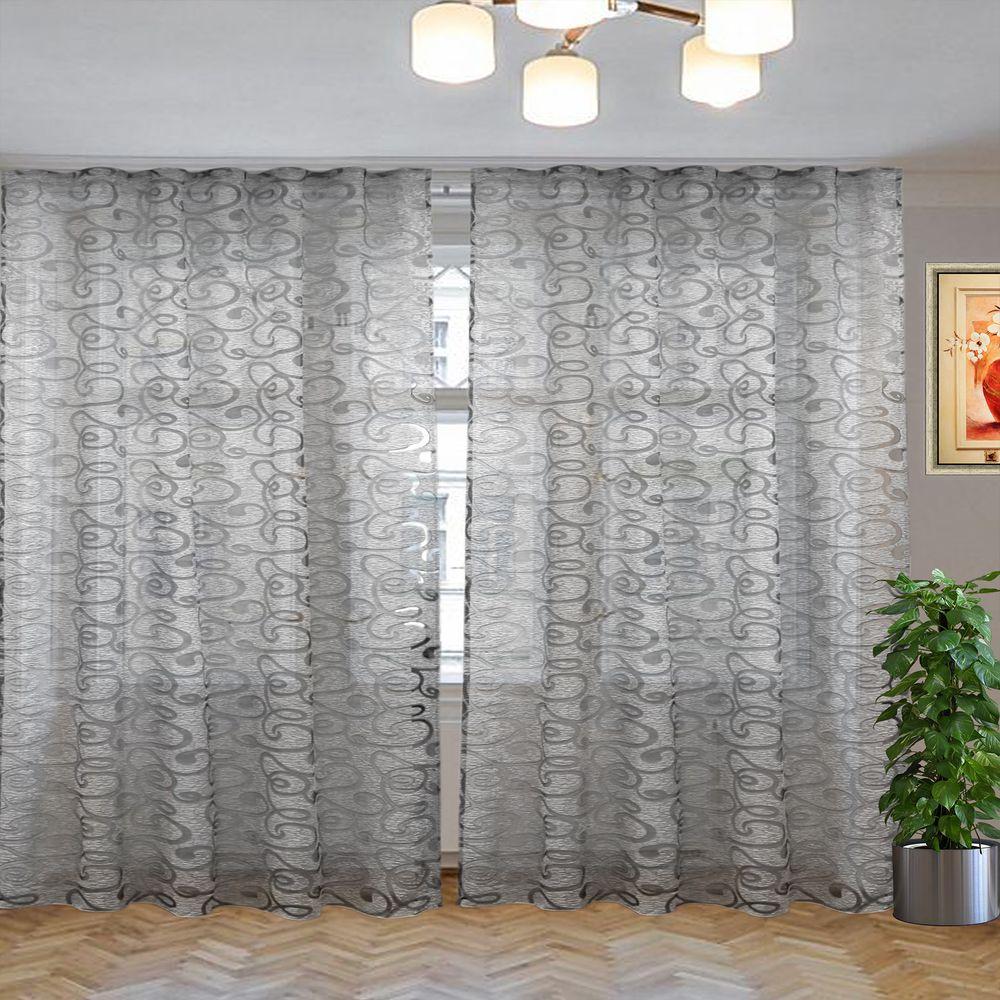комплект штор виола серый